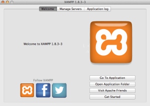 interface of XAMPP