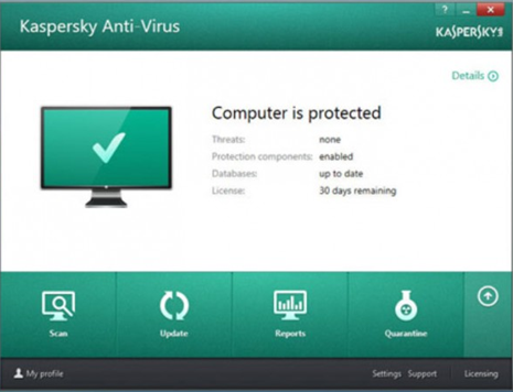 uninstall Kaspersky