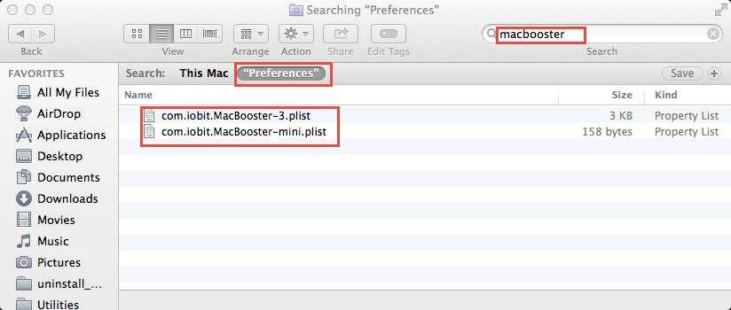 MacBooster Preference files
