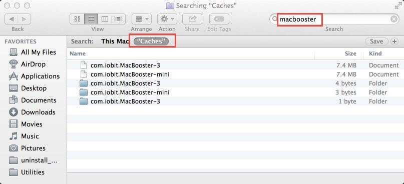 MacBooster3 Cache files