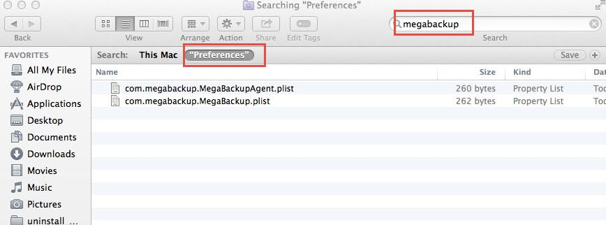 preferences files