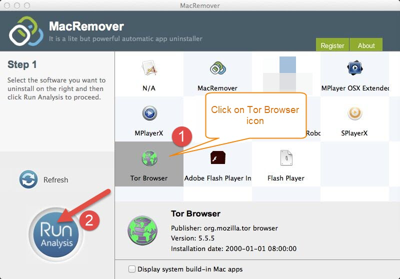 uninstall Tor Browser 5.5.5