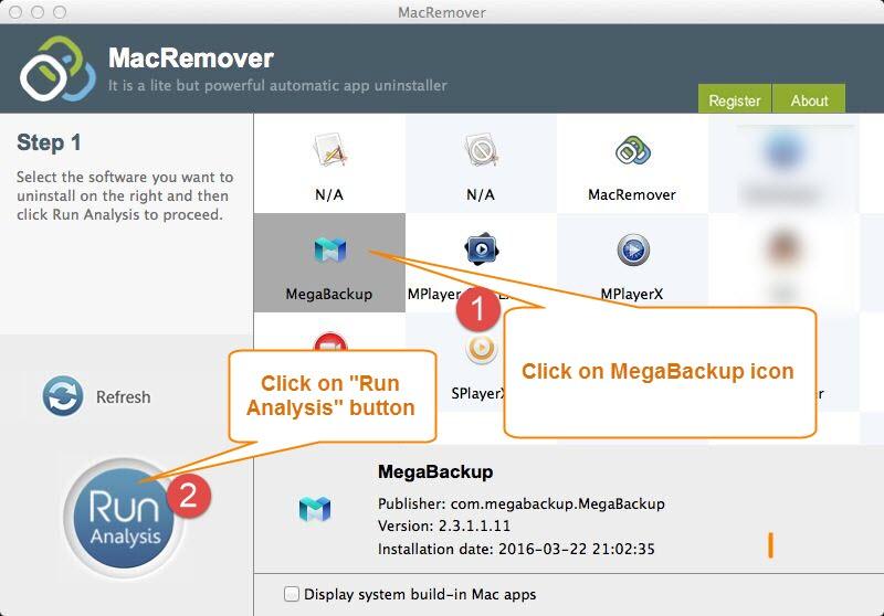 unintsall MegaBackup 2.3.1.1.11