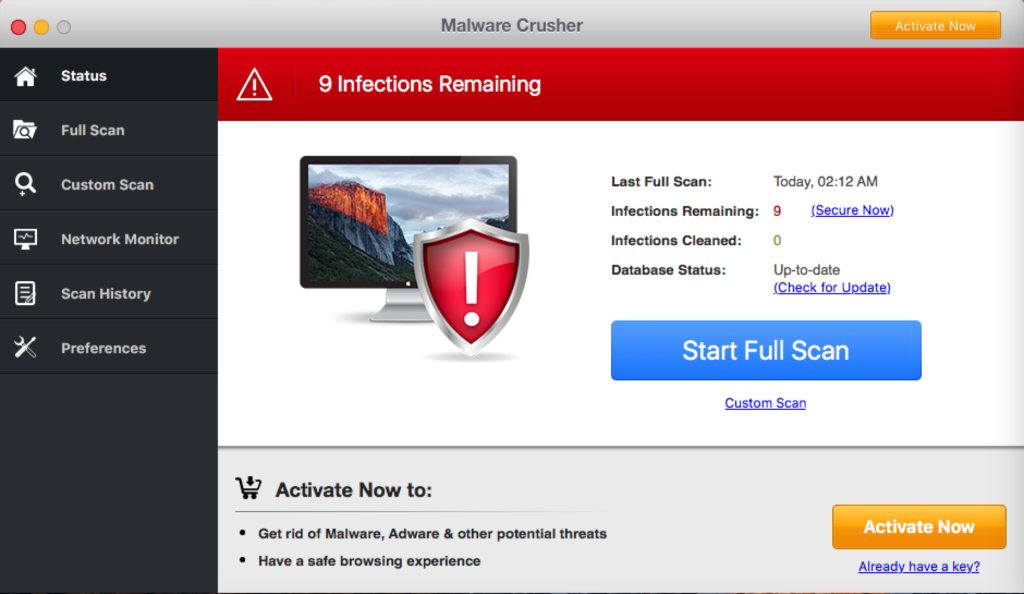 remove Malware Crusher