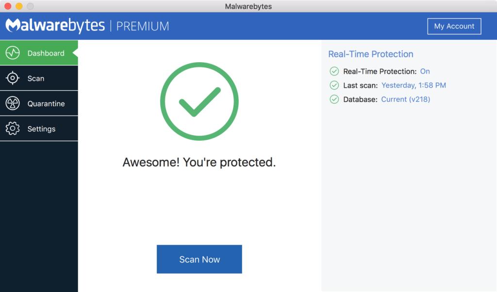 remove Malwarebytes