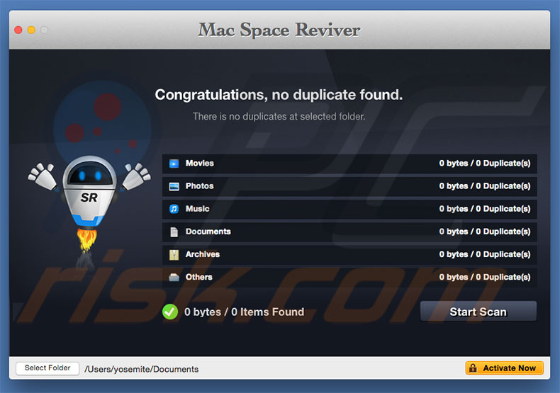 remove Mac Space Reviver